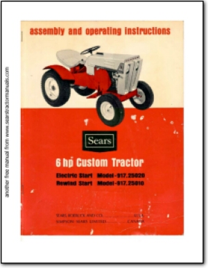 sears tractor manuals rh searstractormanuals com Sears Tractor Attachments Sears Yard Tractors