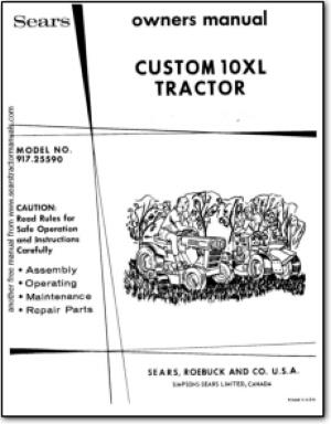 sears custom 6 wiring diagram sears tractor manuals