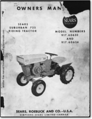 sears tractor manuals rh searstractormanuals com Sears Suburban 12 Garden Tractor Sears Tractor Model 917 25640